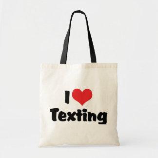 I Love Heart Texting Tote Bag