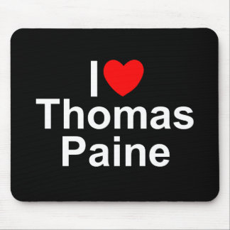 I Love (Heart) Thomas Paine Mouse Pad