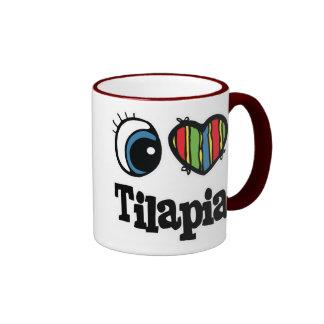 I Love (Heart) Tilapia Ringer Coffee Mug