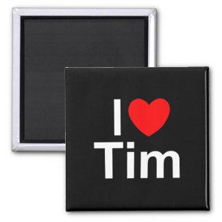 I Love (Heart) Tim Refrigerator Magnets