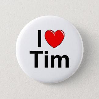 I Love (Heart) Tim Pinback Button