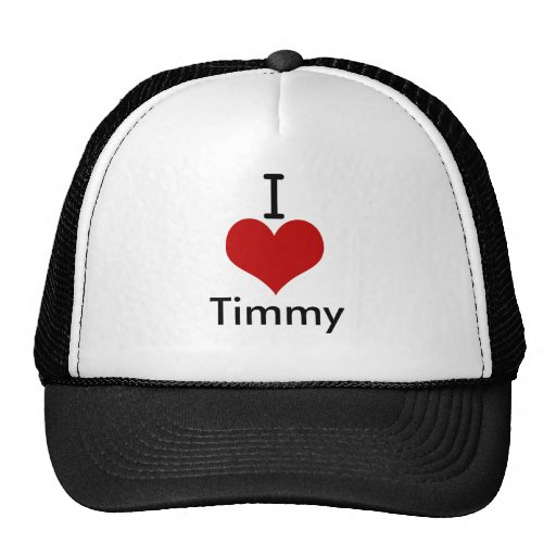 I Love (heart) Timmy Trucker Hat