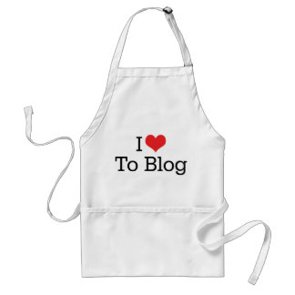I Love Heart To Blog Adult Apron