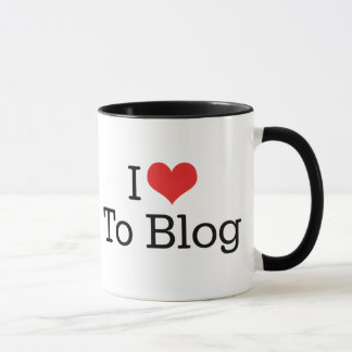 I Love Heart To Blog Mug