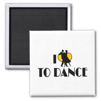 I Love Heart To Dance - Tango Waltz Ballet Lover Magnet