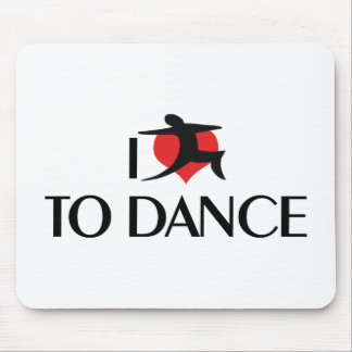 I Love Heart To Dance - Tango Waltz Ballet Lover Mouse Pad