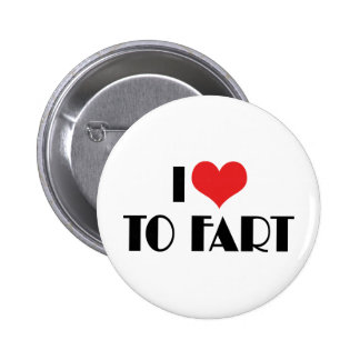 I Love Heart To Fart Button