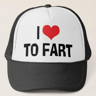 I Love Heart To Fart - Funny Fart Humor Trucker Hat