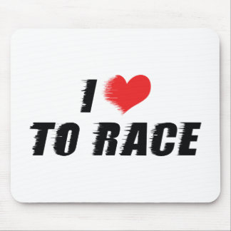 I Love Heart To Race - Car Motorcycle Racing Lover Mouse Pad
