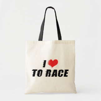 I Love Heart To Race - Car Motorcycle Racing Lover Tote Bag