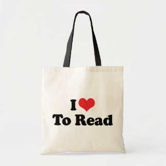I Love Heart To Read - Book Lover Tote Bag