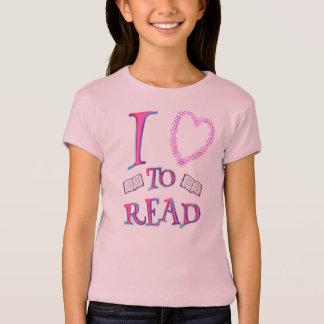 I Love (heart) To Read T-Shirt