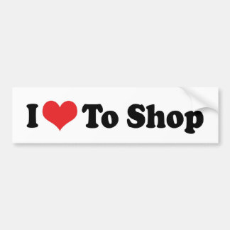 I Love Heart To Shop - Shopping Lover Bumper Sticker