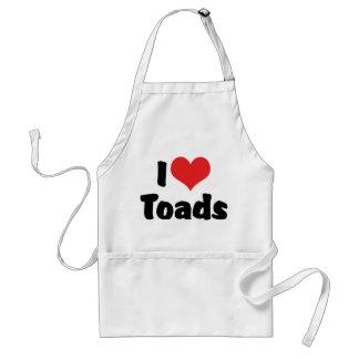 I Love Heart Toads Adult Apron
