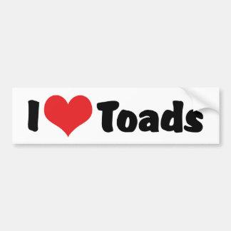 I Love Heart Toads Bumper Sticker