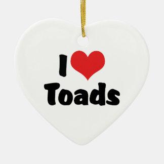 I Love Heart Toads Ceramic Ornament