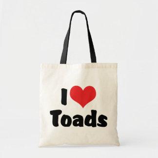 I Love Heart Toads Tote Bag