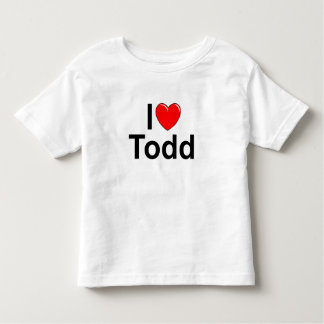 I Love (Heart) Todd Toddler T-shirt