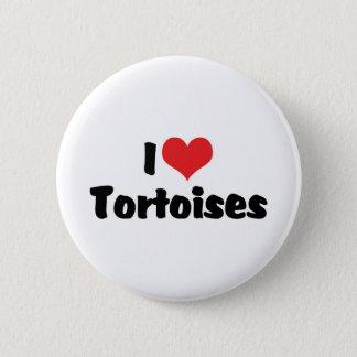 I Love Heart Tortoises - Turtle Lover Button