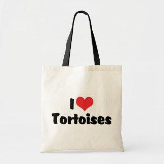 I Love Heart Tortoises - Turtle Lover Tote Bag