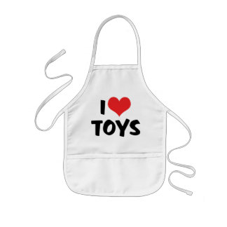 I Love Heart Toys - Toy Collector Lover Kids' Apron