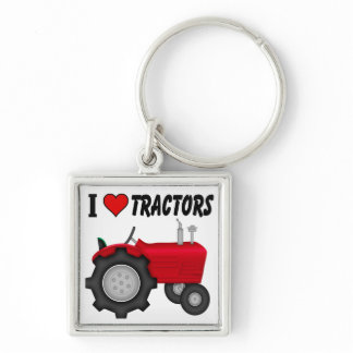 I love (heart) Tractors Keychain