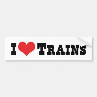 I Love Heart Trains - Model Train Lover Bumper Sticker