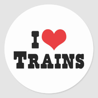 I Love Heart Trains - Model Train Lover Classic Round Sticker