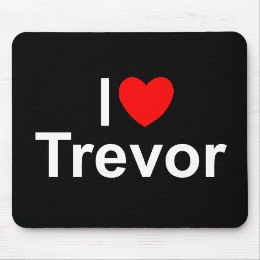 I Love (Heart) Trevor Mouse Pad