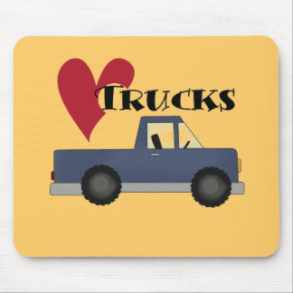 I Love (heart) Trucks Tshirts and Gifts Mouse Pad