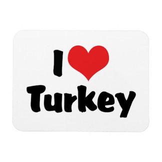 I Love Heart Turkey - Thanksgiving Meal Lover Magnet