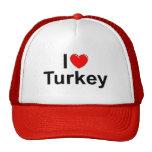 I Love (Heart) Turkey Trucker Hat