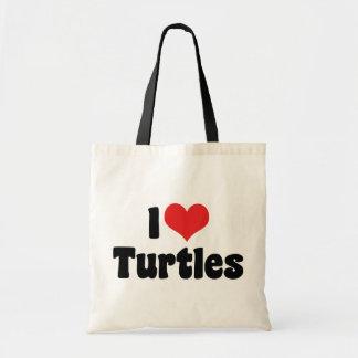 I Love Heart Turtles Tote Bag