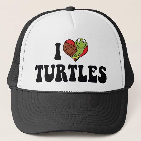 I Love Heart Turtles Trucker Hat