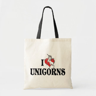 I Love Heart Unicorns Tote Bag
