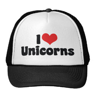 I Love Heart Unicorns Trucker Hat