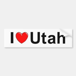 I Love (Heart) Utah Bumper Stickers