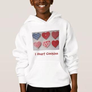 I Love Heart Valentine Cookies Hoodie