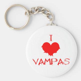I love (heart) Vampas Basic Round Button Keychain