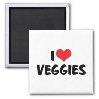 I Love Heart Veggies - Vegan Health Food Lover Magnet
