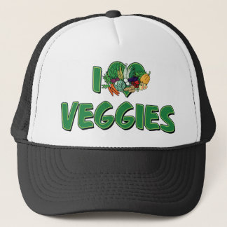 I Love Heart Veggies - Vegan Health Food Lover Trucker Hat