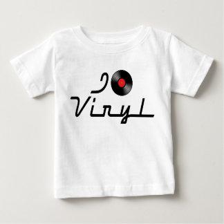I Love Heart Vinyl - DJ Record Album Lover Baby T-Shirt