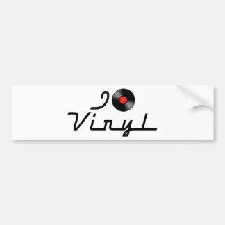 I Love Heart Vinyl - DJ Record Album Lover Bumper Sticker