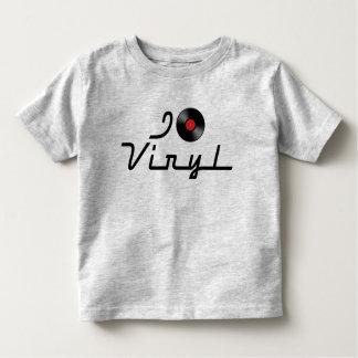 I Love Heart Vinyl - DJ Record Album Lover Toddler T-shirt