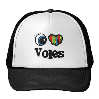 I Love (Heart) Voles Trucker Hat