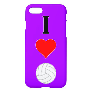 I Love (Heart) Volleyball Custom Color Phone Case