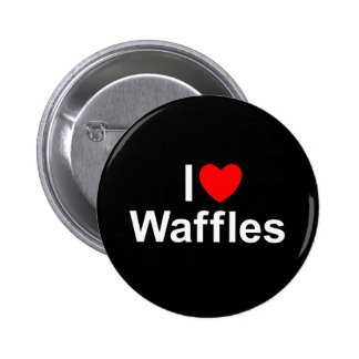 I Love (Heart) Waffles Button