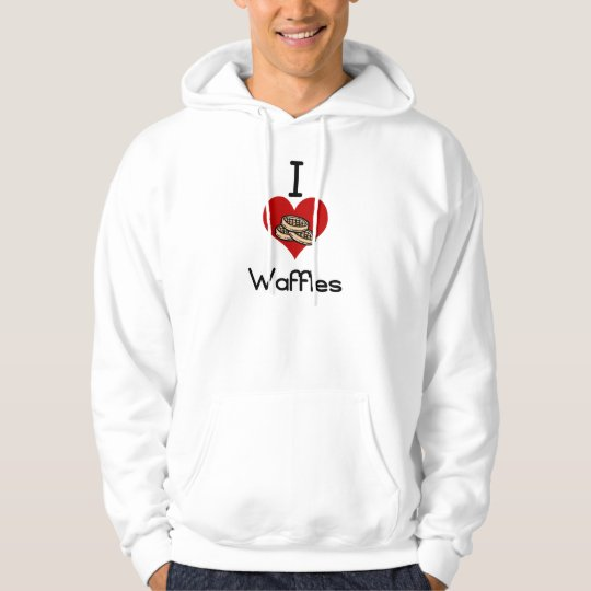 I love-heart waffles hoodie