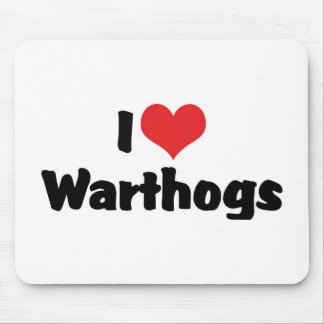 I Love Heart Warthogs Mouse Pad