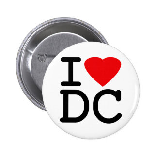 I Love Heart Washington D.C. District of Columbia Pinback Buttons